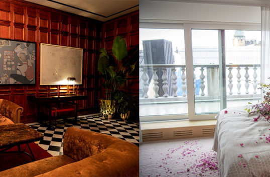 Bank Hotel doftar internationellt vardagsrum
