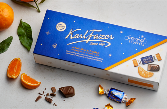100% hållbar choklad från Fazer till jul