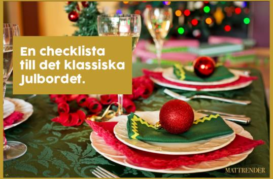 En checklista till julbordet