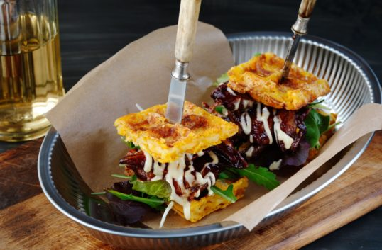 Mac n Cheese Waffles