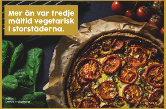 Var tredje måltid vegetarisk