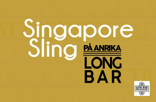 En Singapore Sling på anrika Long Bar?