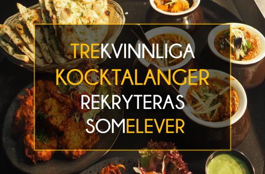 Tre kvinnliga kocktalanger rekryteras som elever i Svenska Kocklandslaget