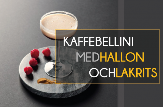 Kaffebellini med hallon och lakrits