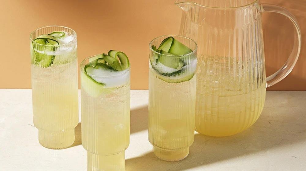 Green summer spritzer