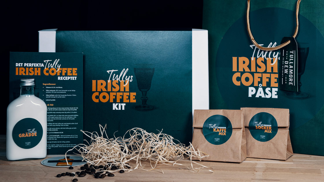 Stöttar barer med Irish Coffee-kit