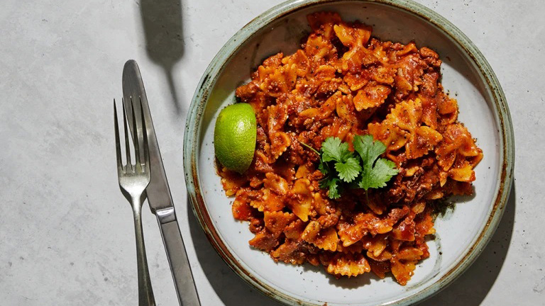 One-pot-taco-pasta med Quorn Färs