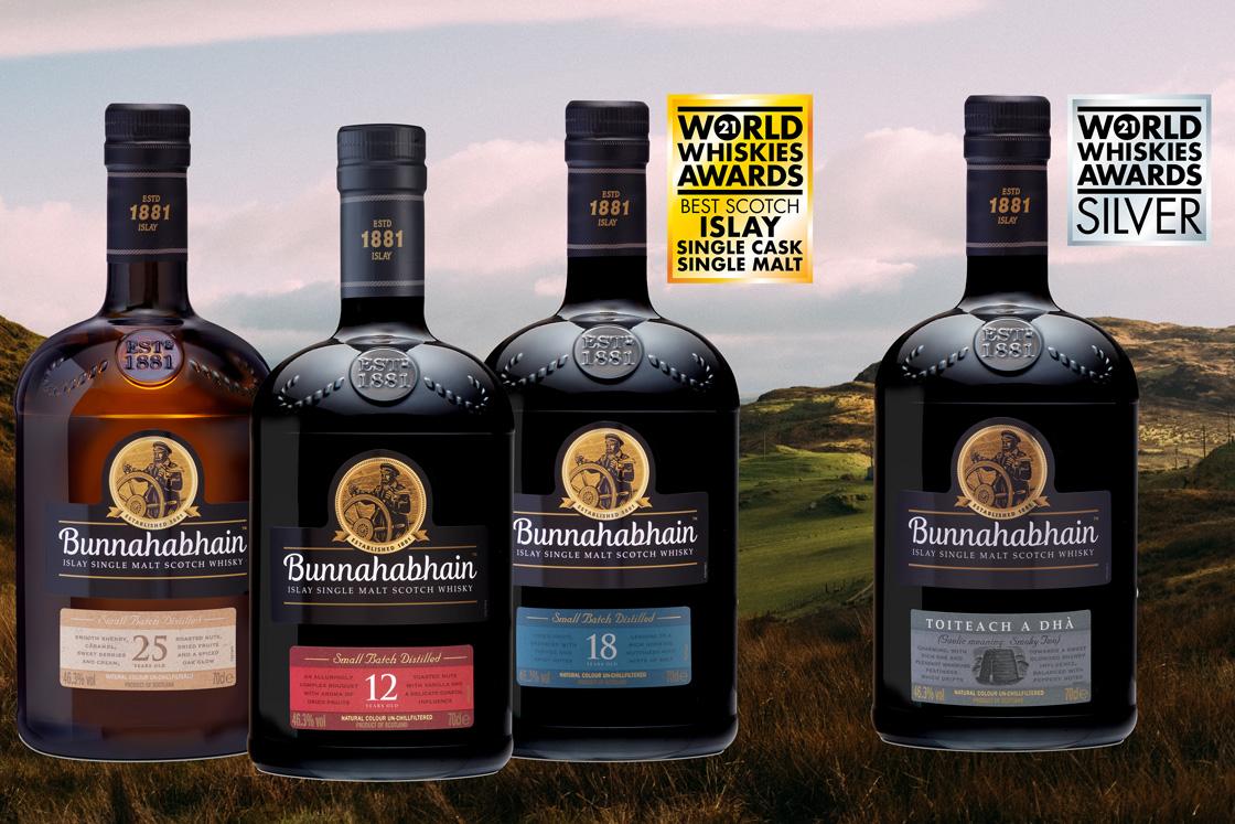 Prisregn över Bunnahabhain i whiskytävling