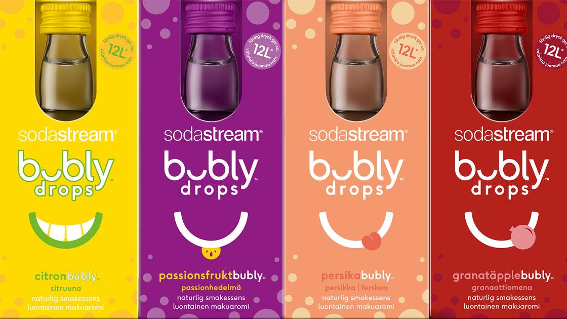 SodaStream lanserar smakerna BUBLY DROPS