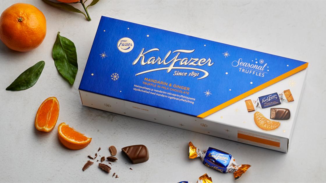 100% hallbar choklad fran Fazer till jul