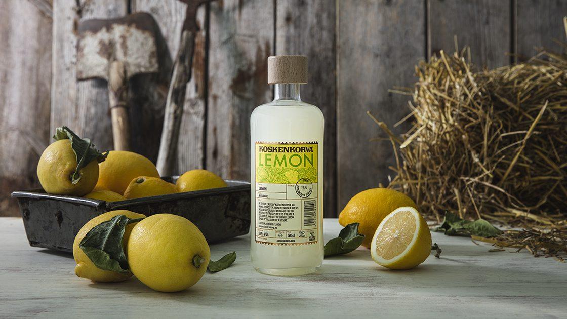 Koskenkorva Lemon – en naturlig nyhet med blandning av sött och surt