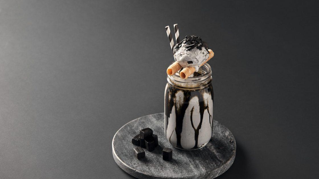 Lyxig kaffeshake med saltlakrits