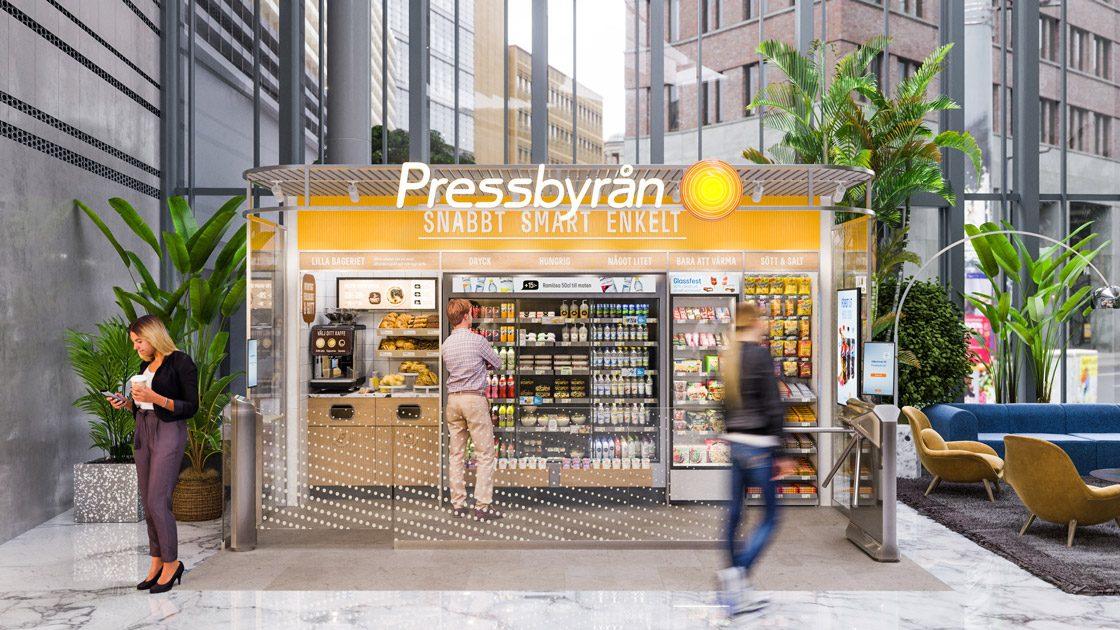 Pressbyrån öppnar första obemannade butiken – Pressbyrån Go