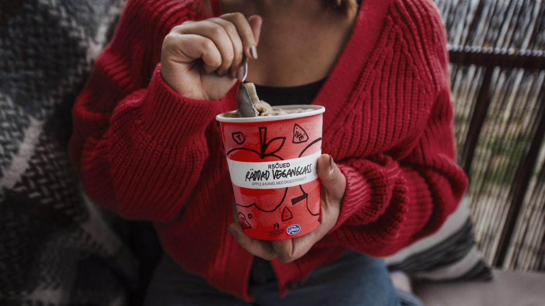 Rscued-glass i samarbete med Göteborgs Kex - Äpple & kanel