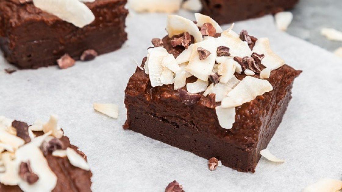 Saftiga brownies på avokado med pumpa- & chokladfrosting
