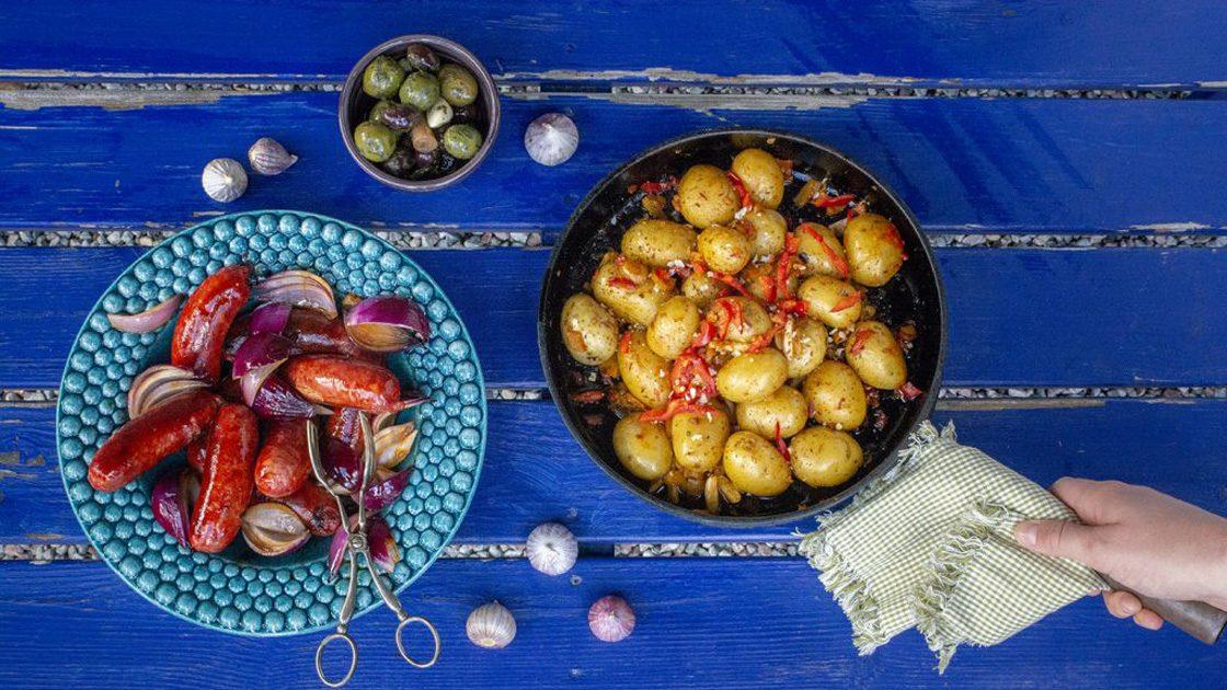Chorizo med het potatis