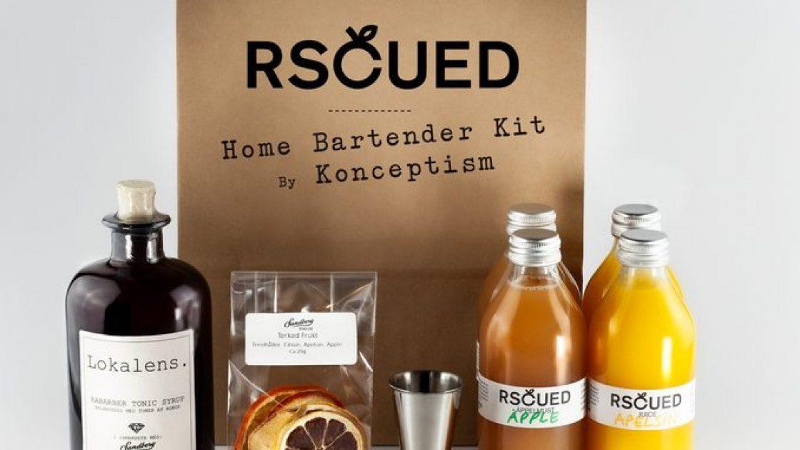 En påse kommer laddad med ett cocktail-kit