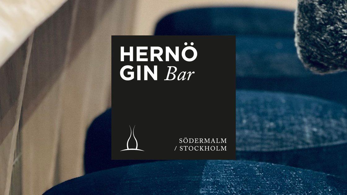 Hernö Gin Bar öppnar nästa fredag i Stockholm