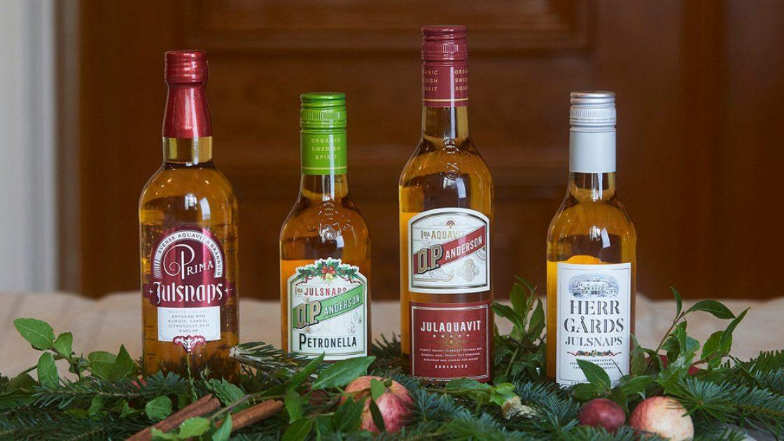Kvartett i svenska julsnapsar som förhöjer julens smakupplevelser
